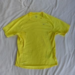 Nike Dri Fit Bright Neon Yellow Top